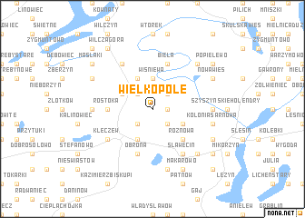 map of Wielkopole