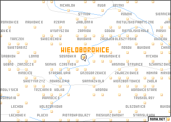 map of Wieloborowice