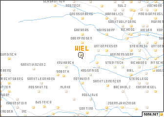 map of Wiel