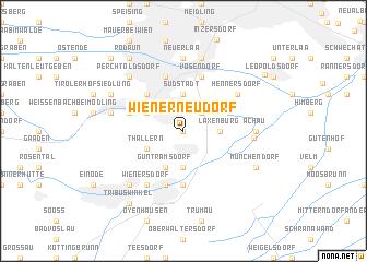map of Wiener Neudorf