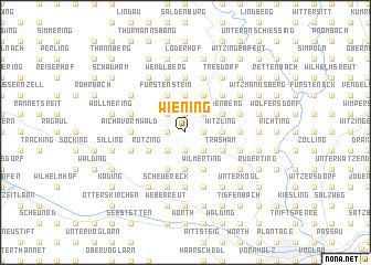 map of Wiening