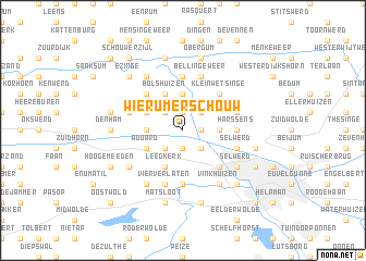 map of Wierumerschouw