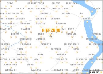 map of Wierzbno