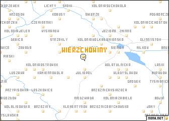 map of Wierzchowiny