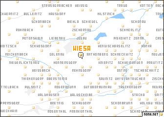 map of Wiesa