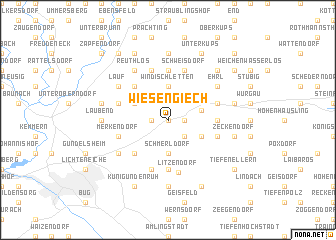 map of Wiesengiech