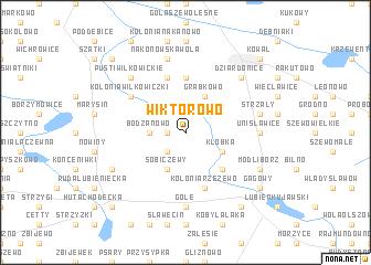map of Wiktorowo