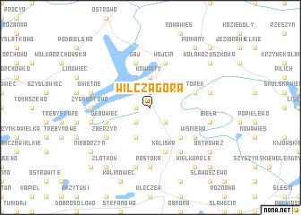 map of Wilcza Góra