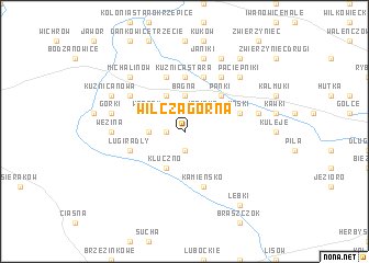 map of Wilcza Górna