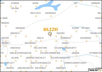 map of Wilczki
