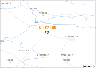 map of Wilczków