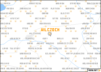 map of Wilczoch