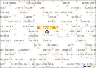 map of Wilczorude