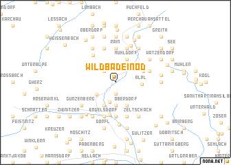 map of Wildbad Einöd