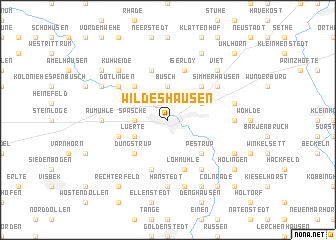 map of Wildeshausen