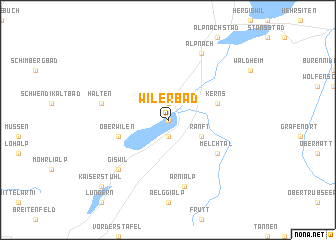 map of Wilerbad