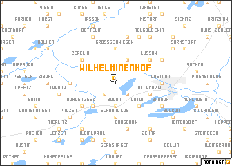 map of Wilhelminenhof