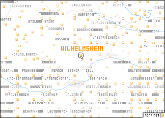 map of Wilhelmsheim