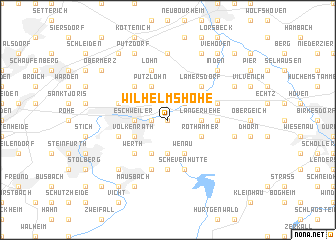 map of Wilhelmshöhe