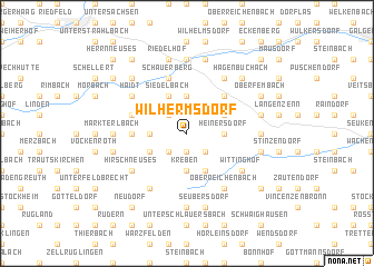 map of Wilhermsdorf