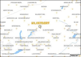 map of Wilkendorf
