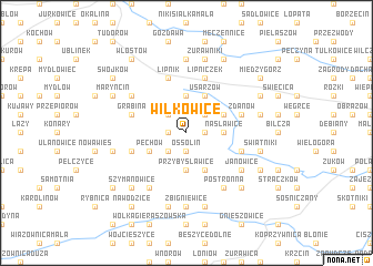 map of Wilkowice