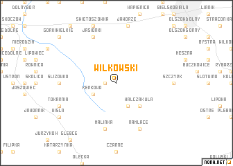 map of Wilkowski