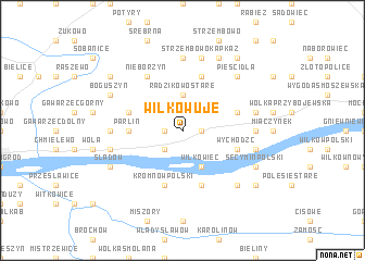 map of Wilkowuje