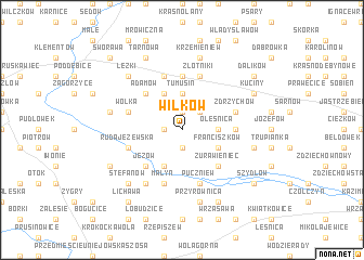 map of Wilków
