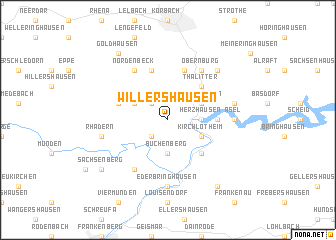 map of Willershausen