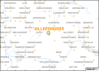 map of Willershausen