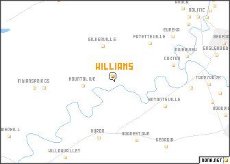 map of Williams