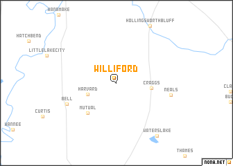 map of Williford