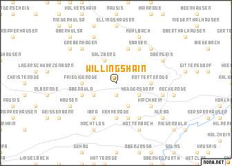 map of Willingshain