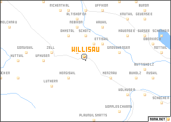 map of Willisau