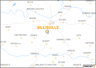 map of Willisville