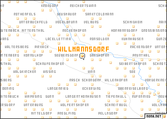 map of Willmannsdorf