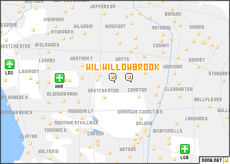 map of Willowbrook