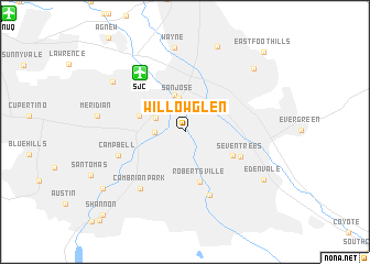 map of Willow Glen