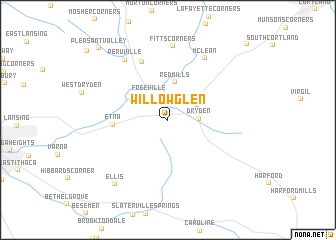 map of Willow Glen