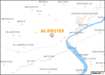 map of Wilmington