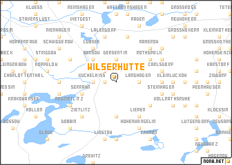 map of Wilserhütte