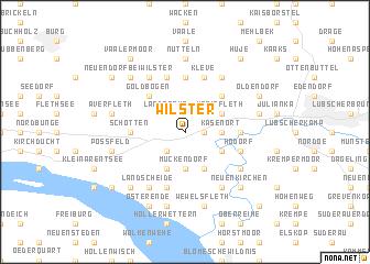 map of Wilster