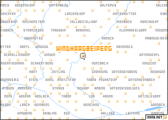 map of Windhaag bei Perg