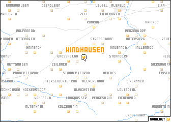 map of Windhausen