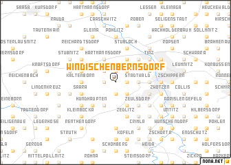map of Windischenbernsdorf