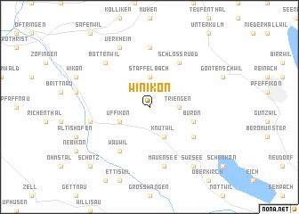 map of Winikon