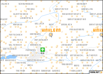 map of Winklern