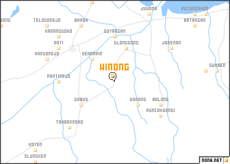 map of Winong