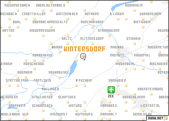 map of Wintersdorf